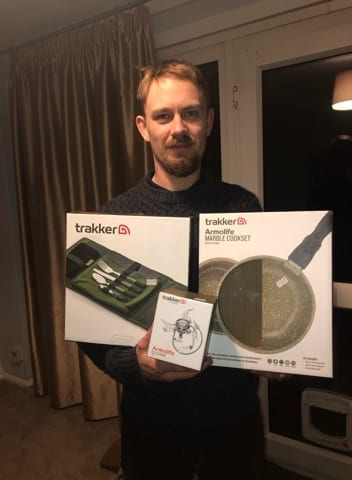 TOM PILE WON THE TRAKKER COOKING SET