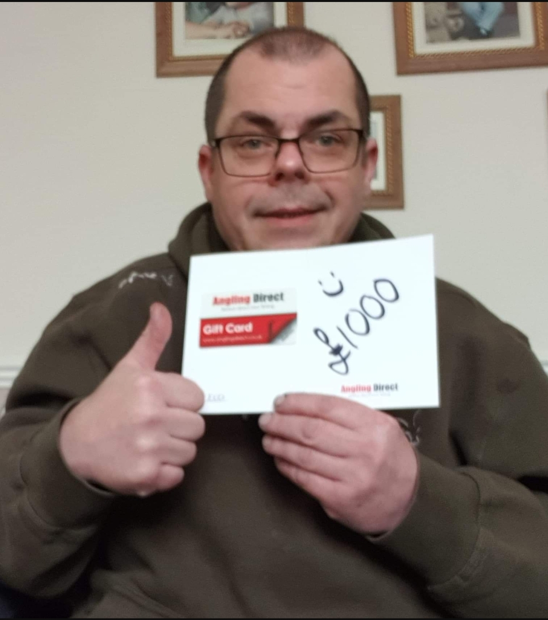 Andrew Blissett wins £1,000.00 Angling Direct Voucher!