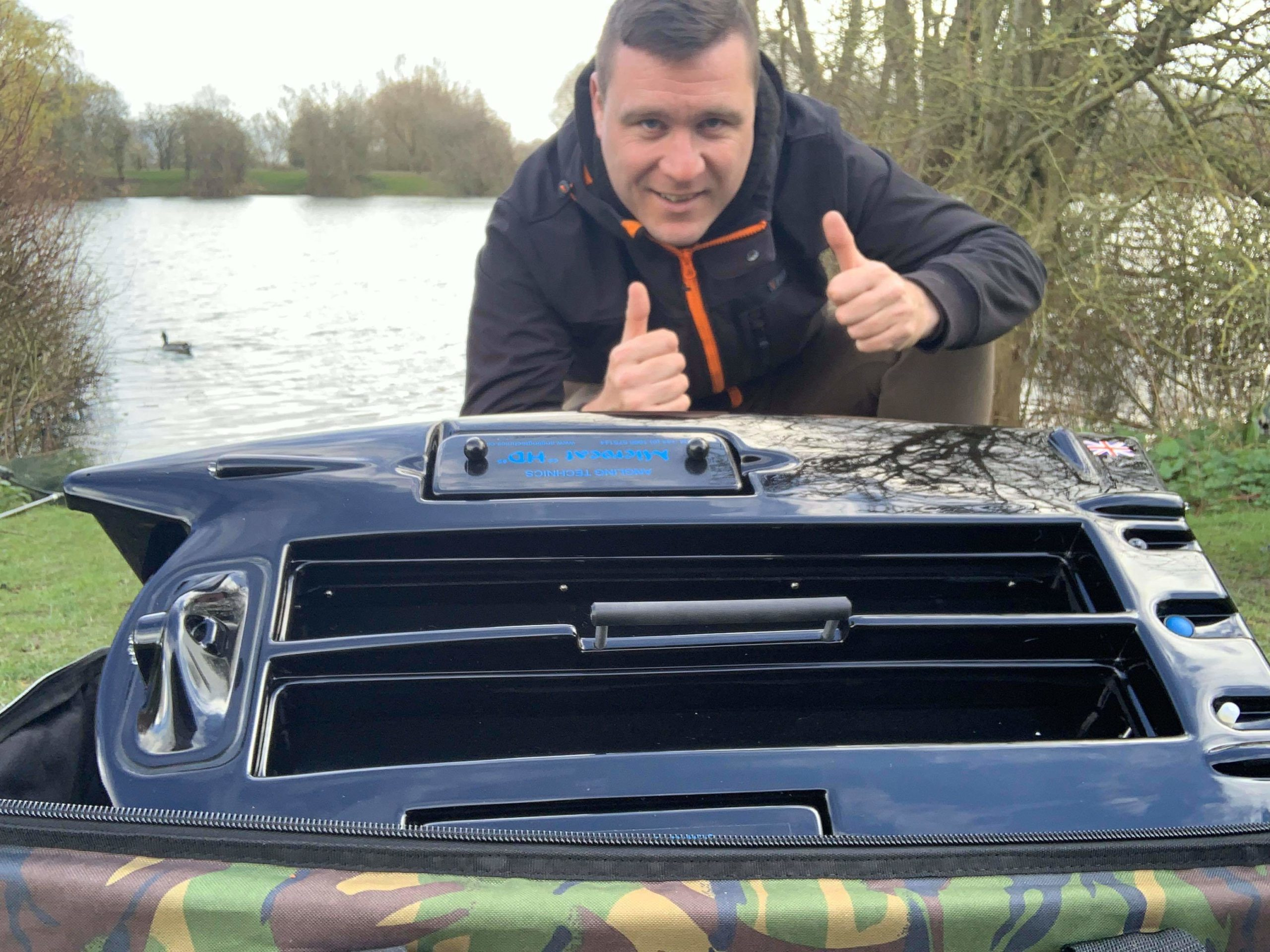 Adam Pidgeon wins a Microcat HD Bait Boat!